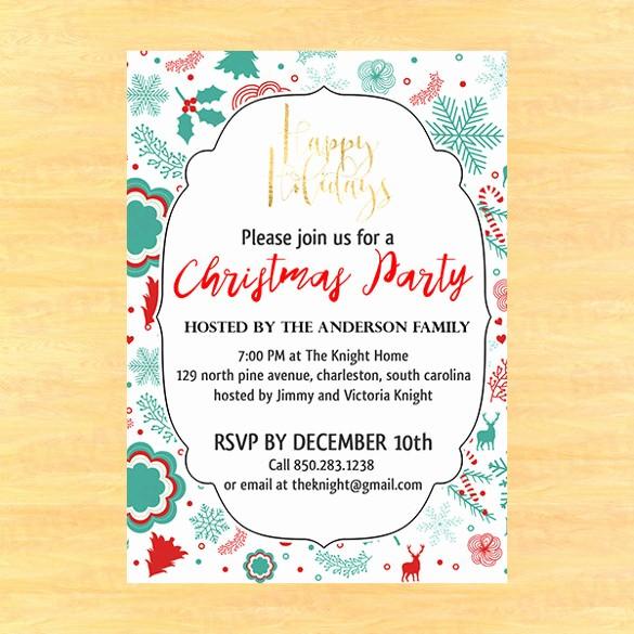 Sample Of Christmas Party Invitation Luxury 20 Christmas Invitation Templates Free Sample Example