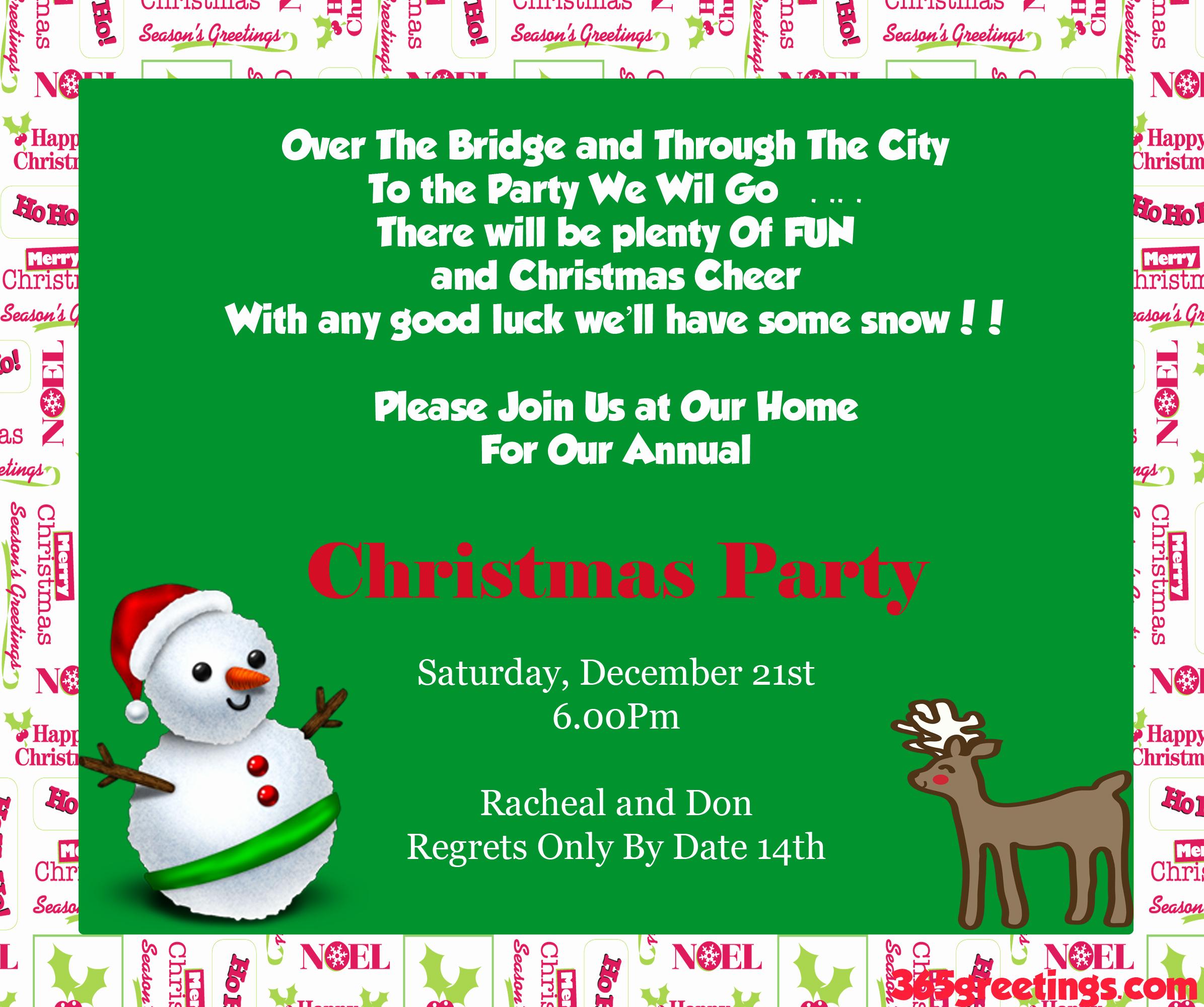 Sample Of Christmas Party Invitation Luxury Christmas Party Invitation Ideas Christmas Celebration