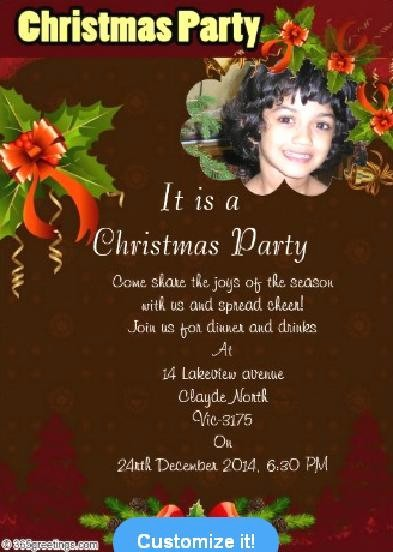 Sample Of Christmas Party Invitation Luxury Christmas Party Invitations and Christmas Party Invitation