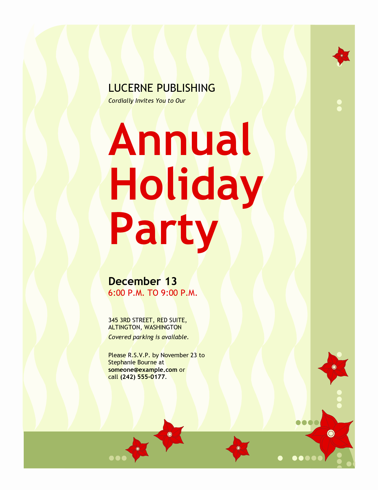 Sample Of Christmas Party Invitation New Fice Christmas Party Invitation Wording