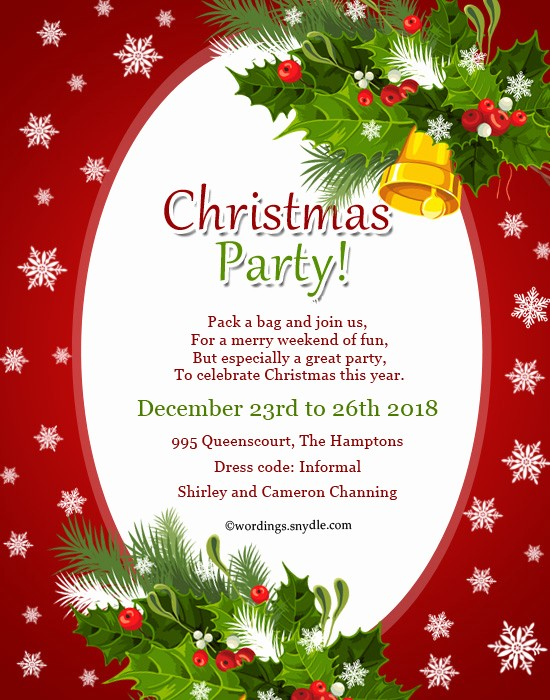 Sample Of Christmas Party Invitation New Invitation Card for Christmas Party – Fun for Christmas