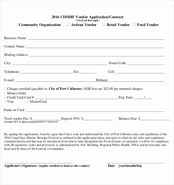 Sample Of Credit Application form Best Of 10 Vendor Application Templates – Free Sample Example