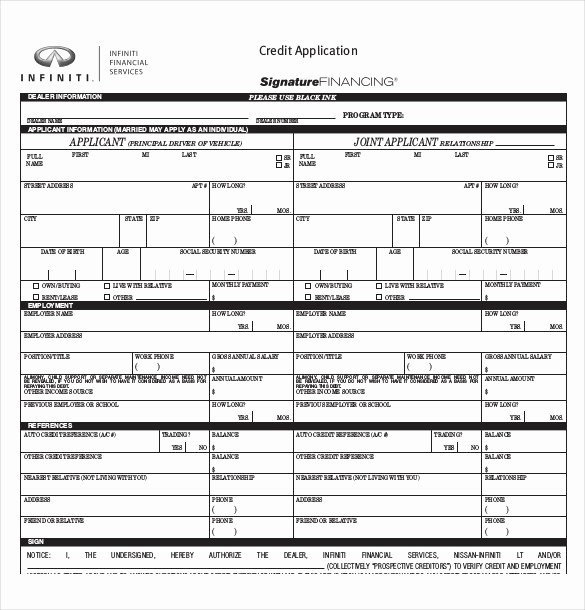Sample Of Credit Application form Best Of Credit Application Template 32 Examples In Pdf Word