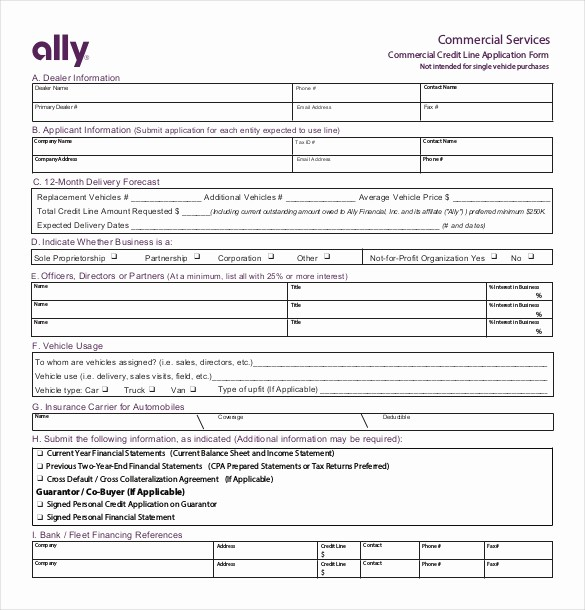 Sample Of Credit Application form New 15 Credit Application Templates Free Sample Example