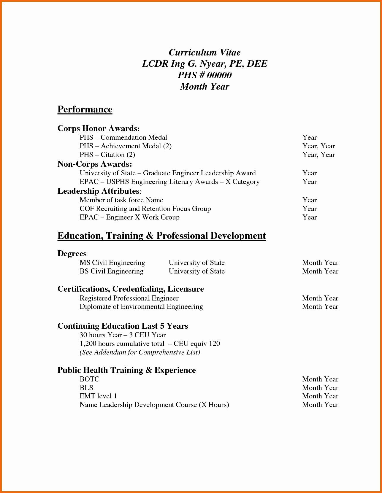 Sample Of Curriculum Vitae format Beautiful 6 Professional Curriculum Vitae format Sample Bud