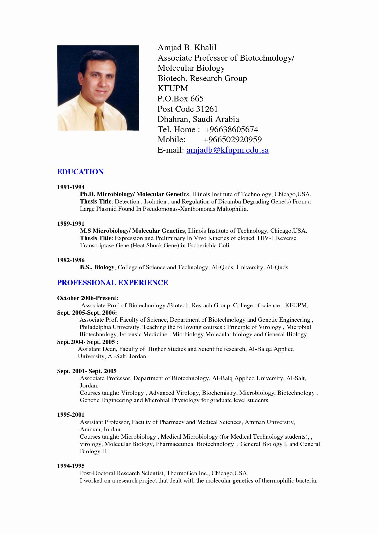 Sample Of Curriculum Vitae format Beautiful Professional Resume format Doc