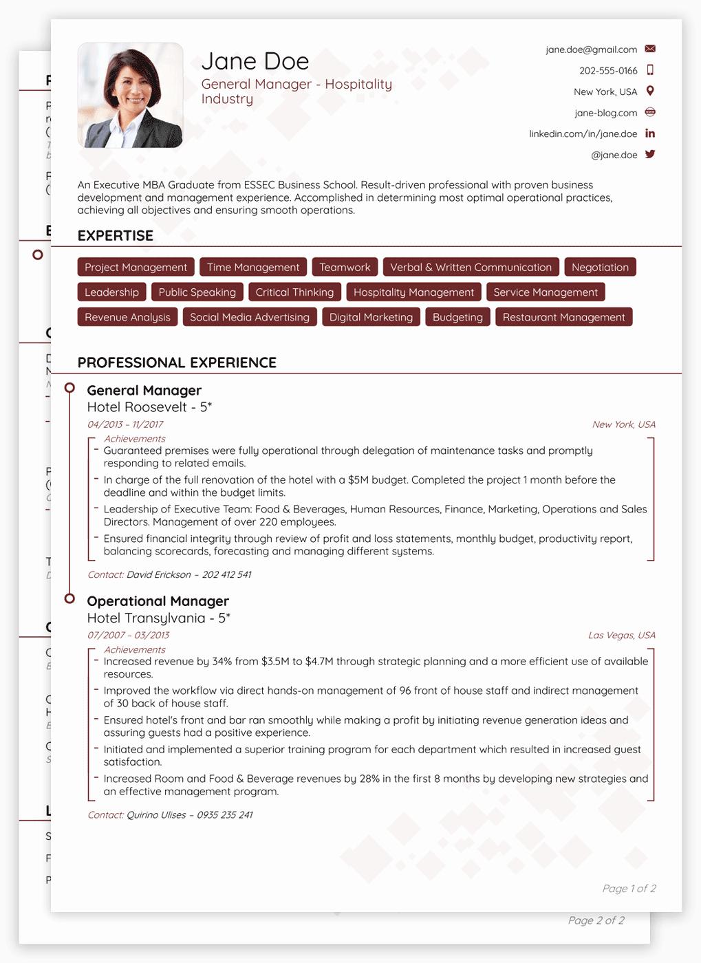 Sample Of Curriculum Vitae format Best Of Cv format