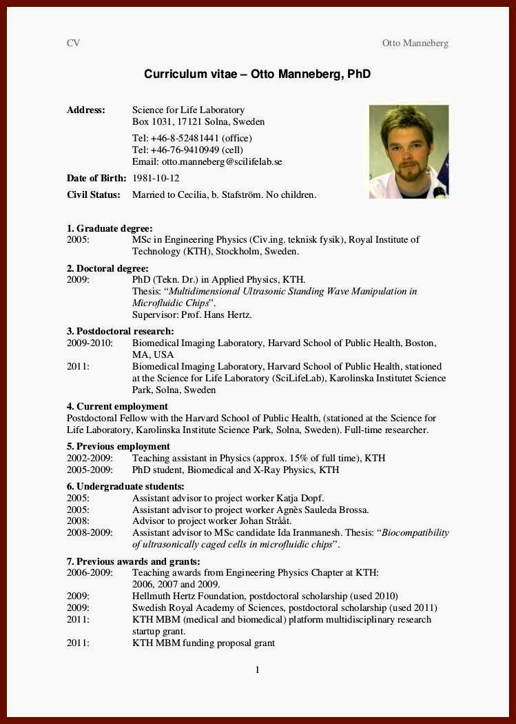 Sample Of Curriculum Vitae format Best Of Newly Graduate Student Cv format