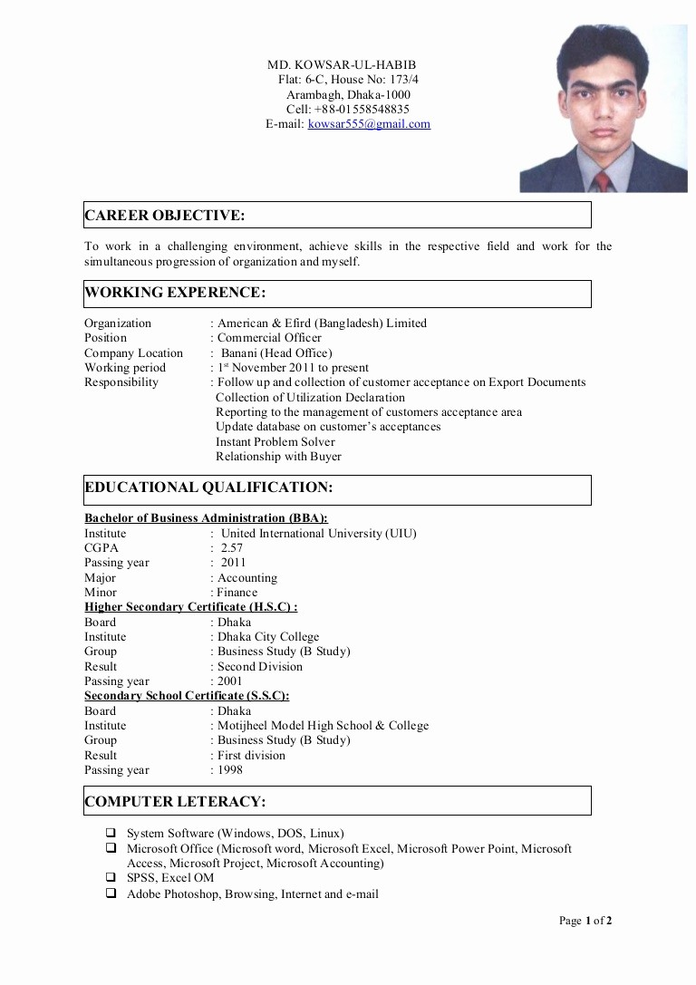 Sample Of Curriculum Vitae format Inspirational Final Cv with