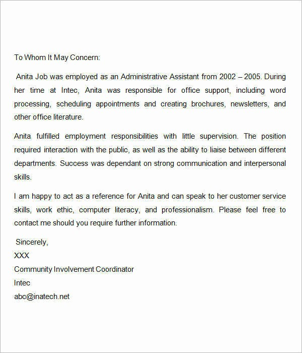 Sample Of Employee Reference Letter Beautiful 15 Sample Re Mendation Letters for Employment In Word