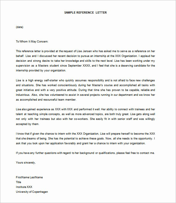 Sample Of Employee Reference Letter Inspirational 25 Letter Templates Pdf Doc Excel