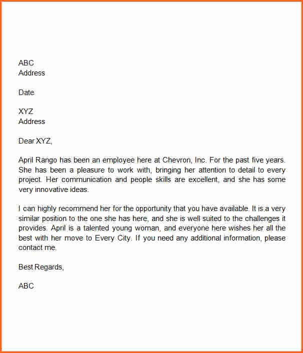 Sample Of Employment Reference Letter Fresh 10 Letter Of Re Mendation Template Word Bud