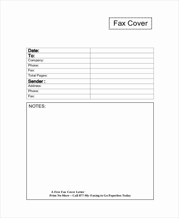 Sample Of Fax Cover Letter Inspirational 8 Sample Fax Cover Letters – Pdf Word