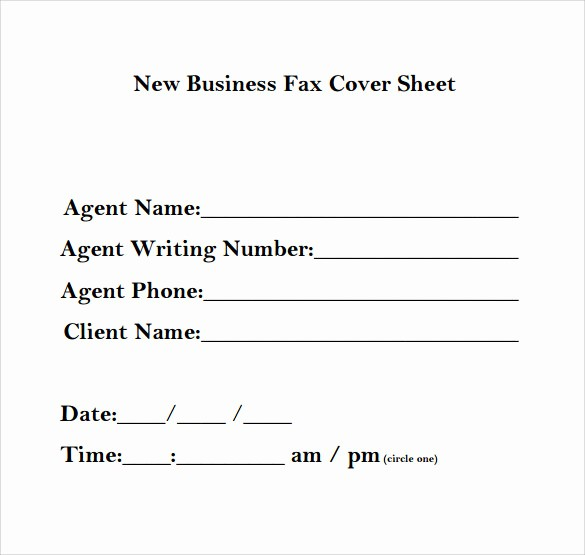 Sample Of Fax Cover Page Elegant 13 Sample Business Fax Cover Sheets