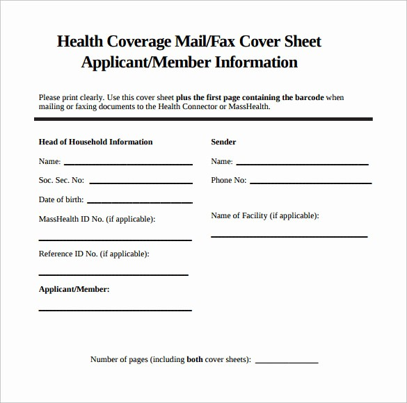 Sample Of Fax Cover Page Fresh 9 Sample Fax Cover Sheets