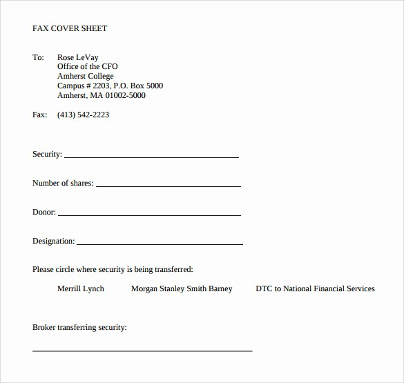 Sample Of Fax Cover Page Luxury 15 Sample Blank Fax Cover Sheets