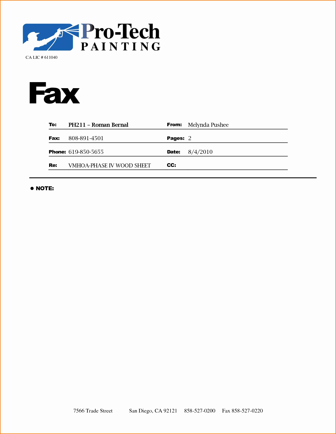 Sample Of Fax Cover Sheet Awesome 5 Fax Cover Sample