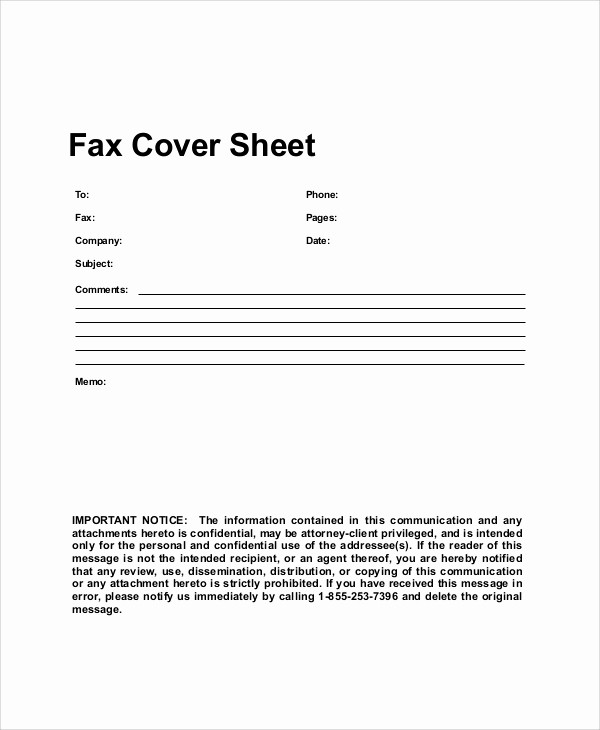Sample Of Fax Cover Sheet New 9 Generic Fax Cover Sheet Samples