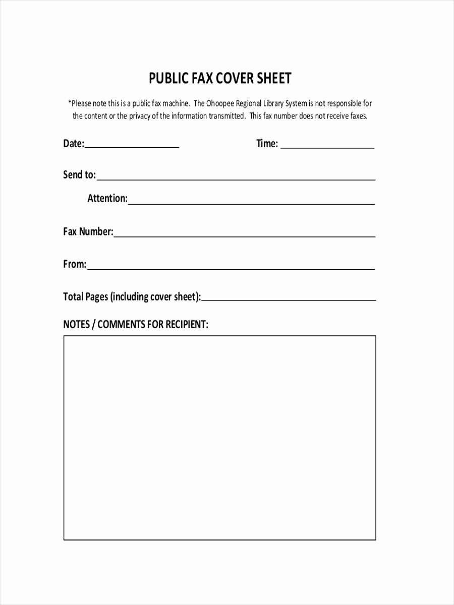 Sample Of Fax Cover Sheets New 11 Fax Cover Sheets Examples & Samples