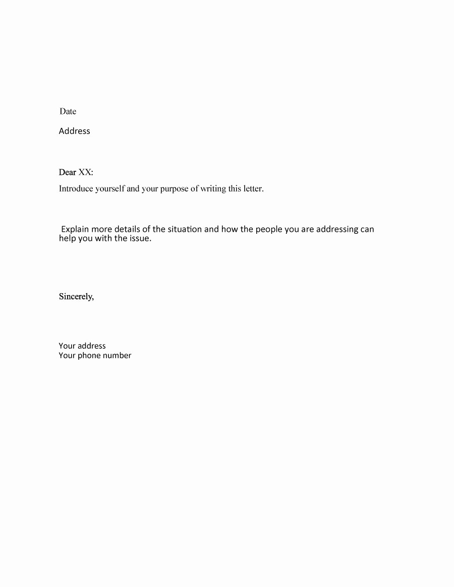 Sample Of formal Business Letter Awesome 35 formal Business Letter format Templates & Examples