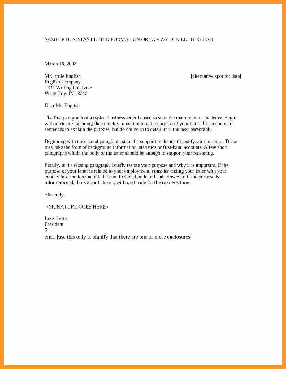 Sample Of formal Business Letter Best Of How to Write A formal Letter Example