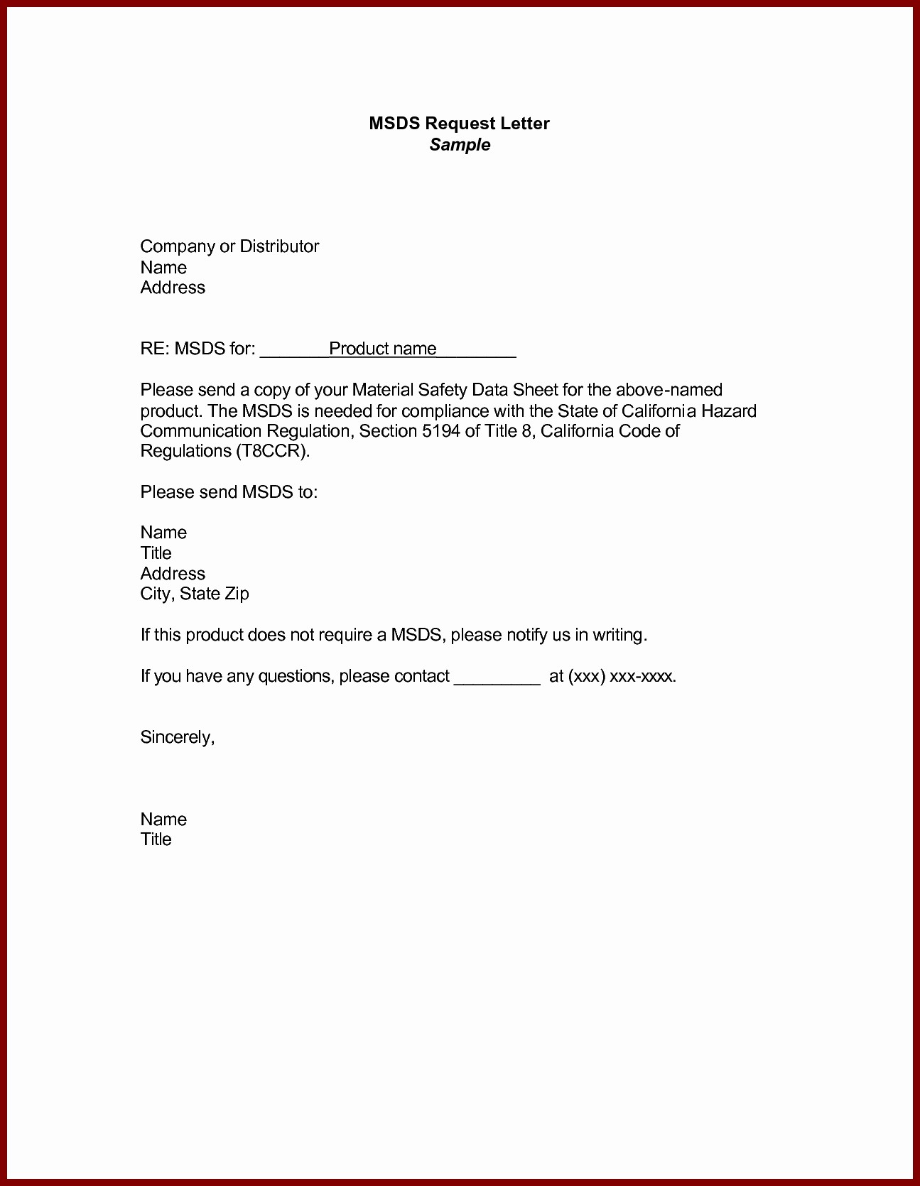 Sample Of formal Business Letter Elegant Business Letter Example Request