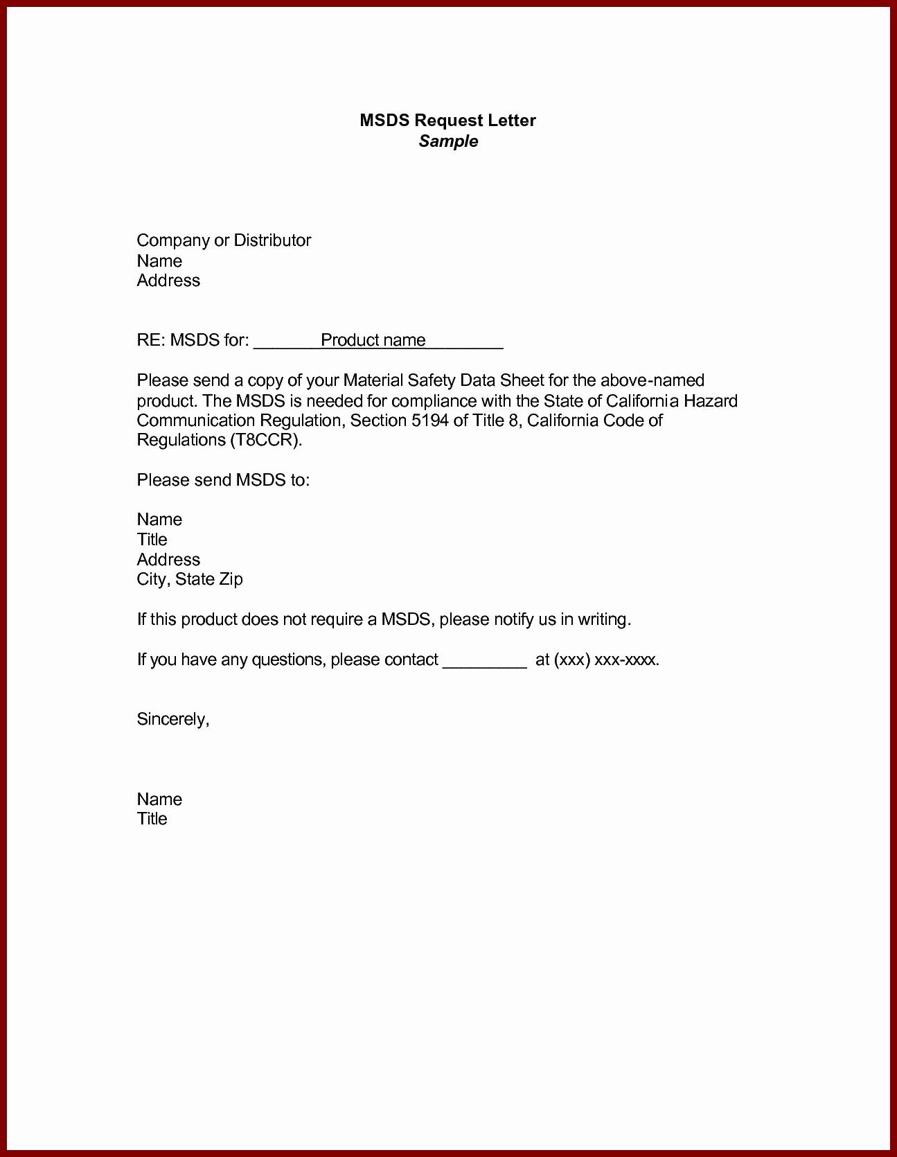 Sample Of formal Business Letter Elegant Business Letter Example Request