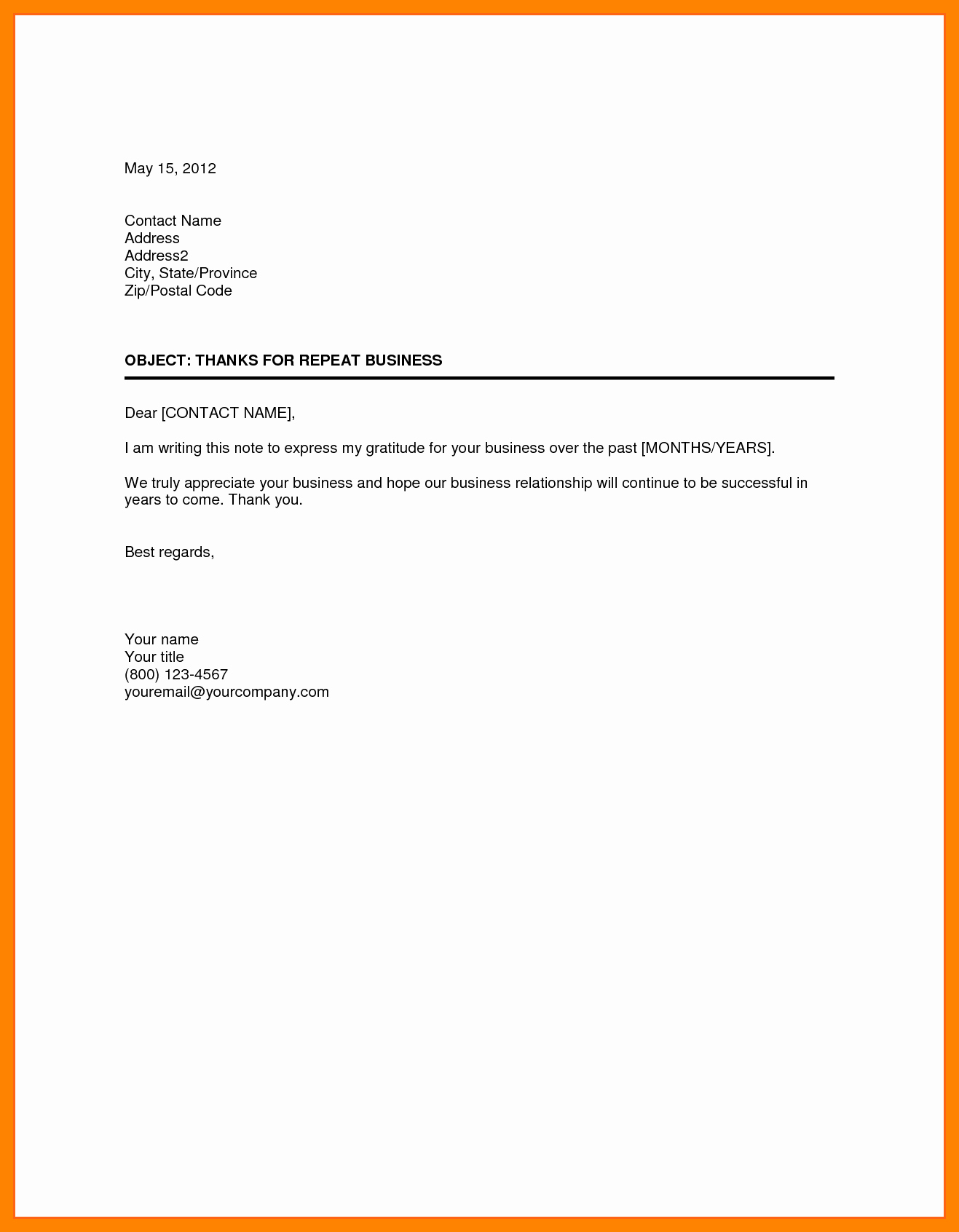 Sample Of formal Business Letter Elegant Business Letter format