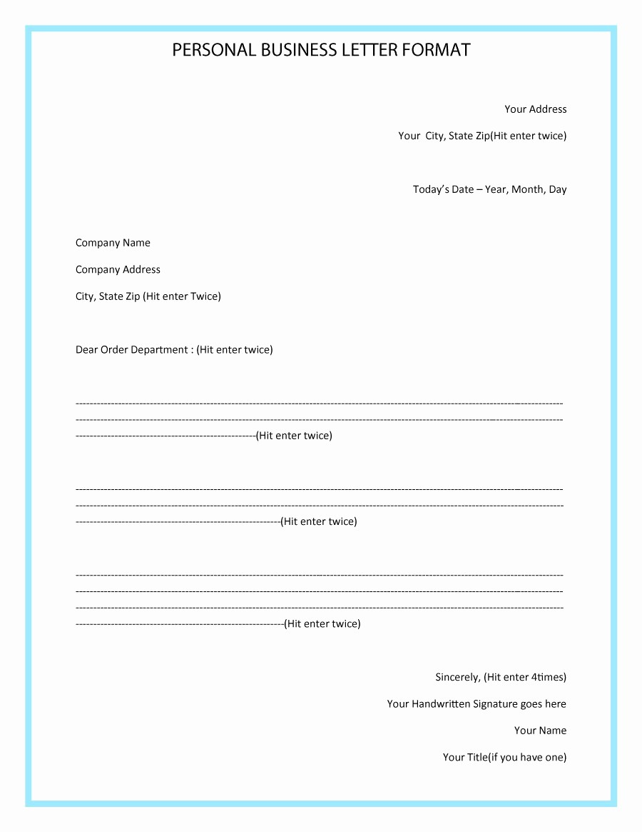Sample Of formal Business Letter Fresh 35 formal Business Letter format Templates & Examples