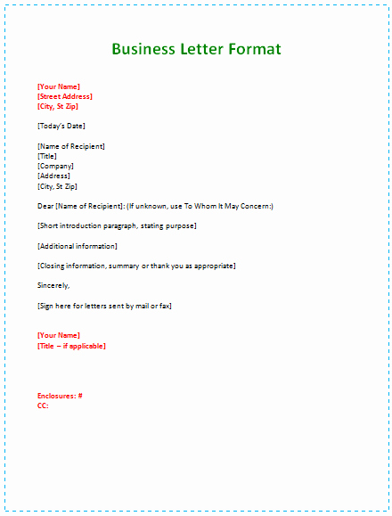 Sample Of formal Business Letter Lovely 60 Business Letter Samples & Templates to format A