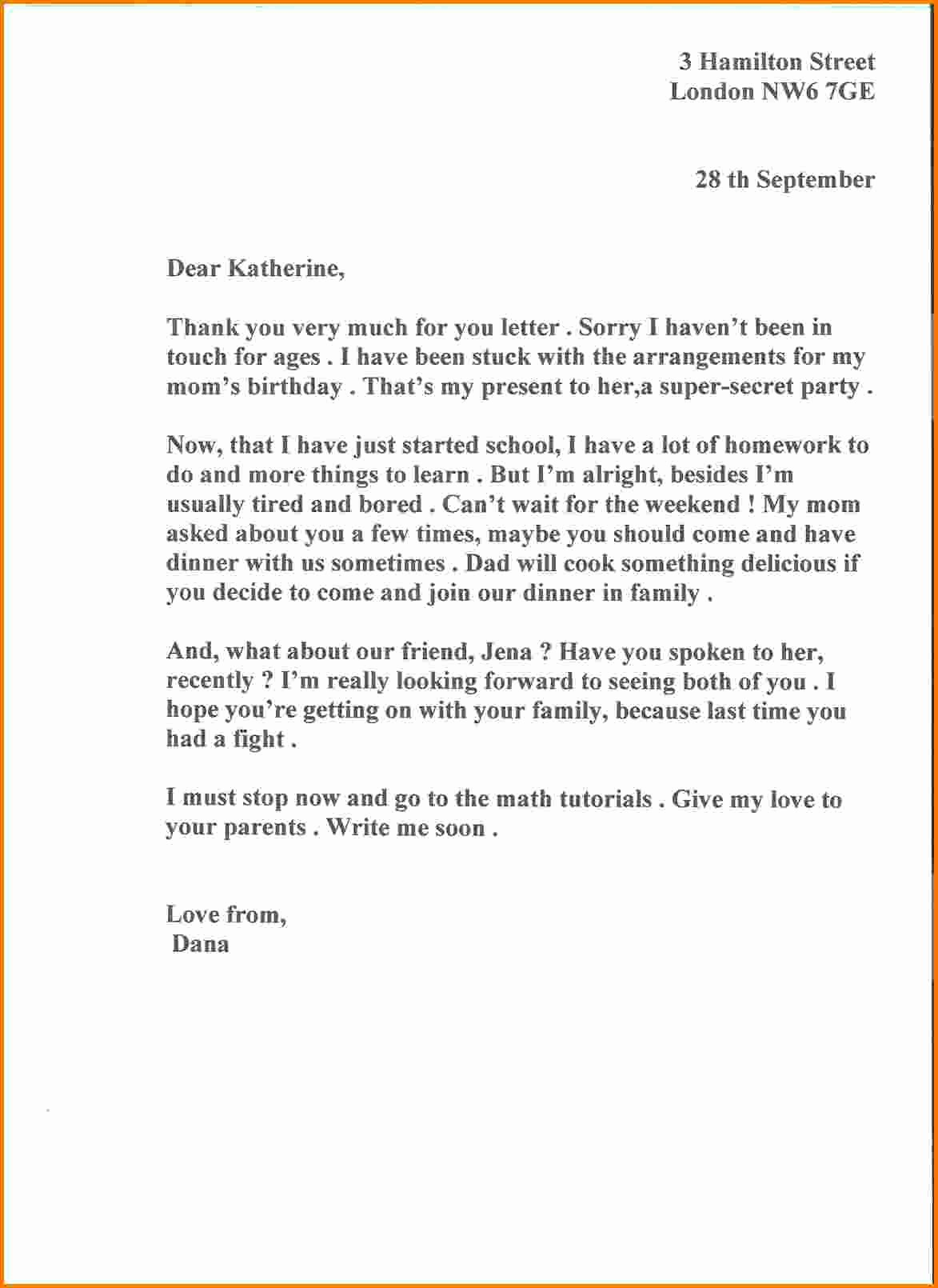 Sample Of formal Business Letter Unique 6 formal Business Letter Sample