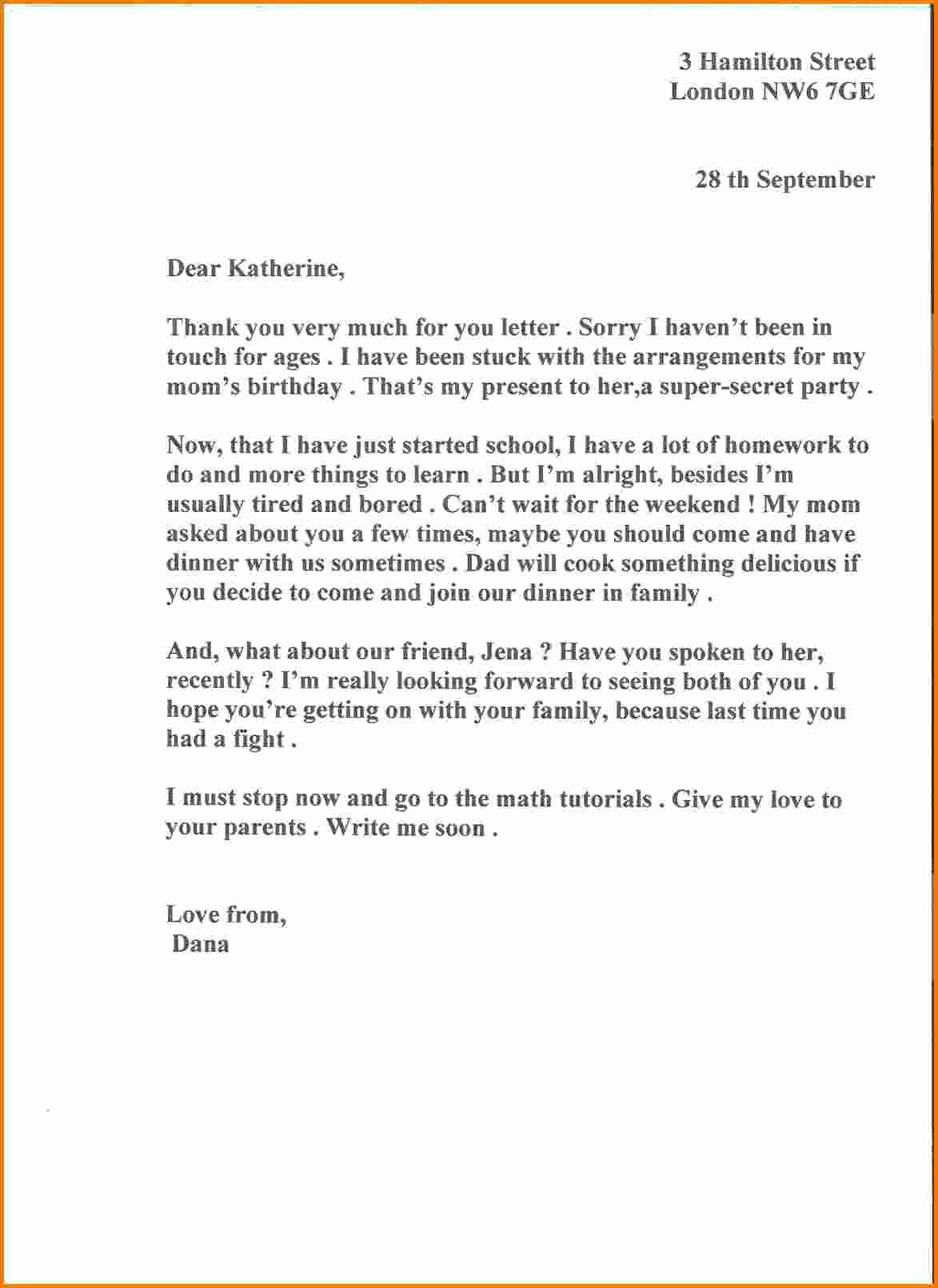 Sample Of formal Business Letter Unique 6 formal Business Letter Sample