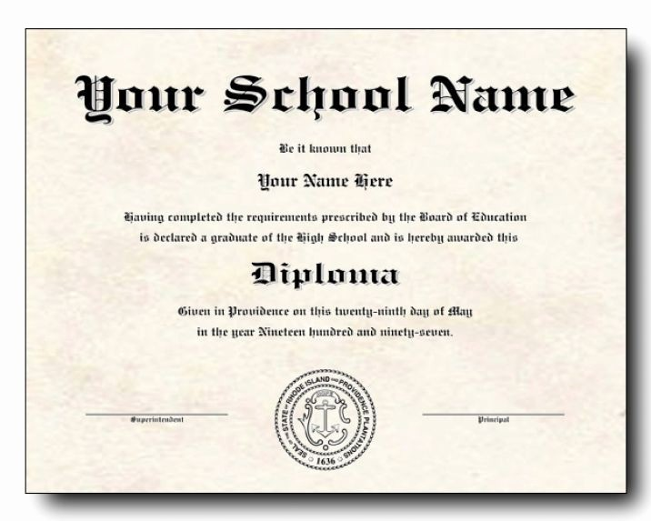 Sample Of High School Diploma Awesome High School Diploma Template