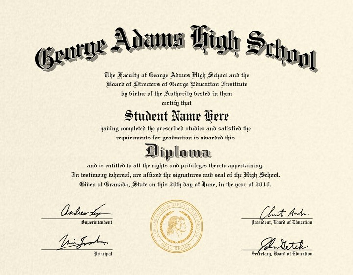 Sample Of High School Diploma Beautiful Us High School Diploma Style 4