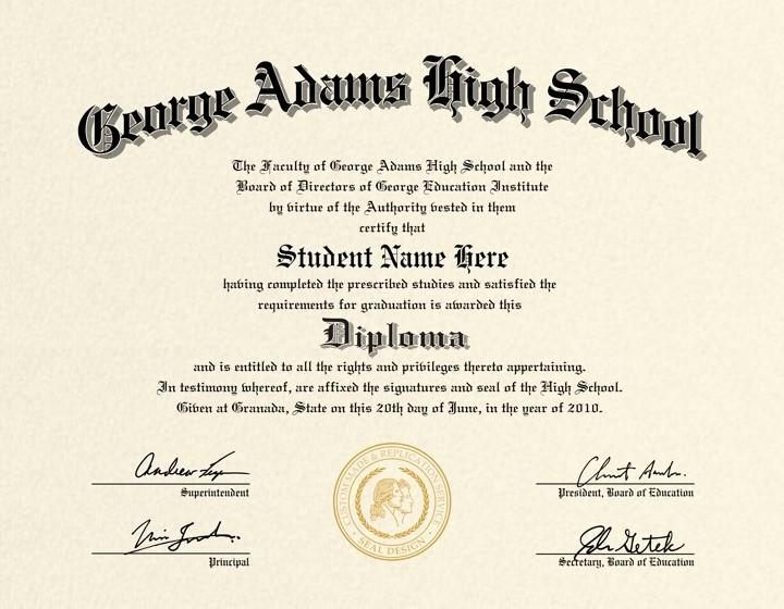 Sample Of High School Diploma Beautiful Us High School Diploma Style 4