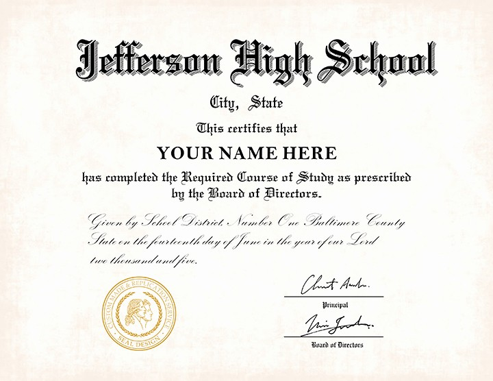 Sample Of High School Diploma Best Of Us High School Diploma Style 1