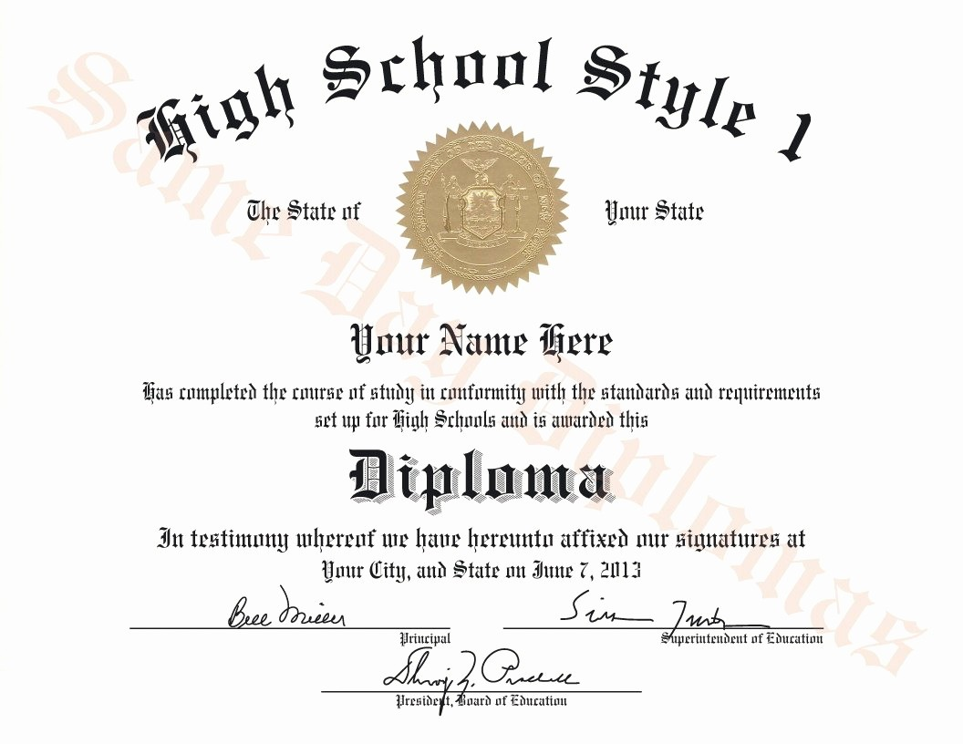 Sample Of High School Diploma Elegant Buy Replacement or Duplicate High School Diplomas – Dps