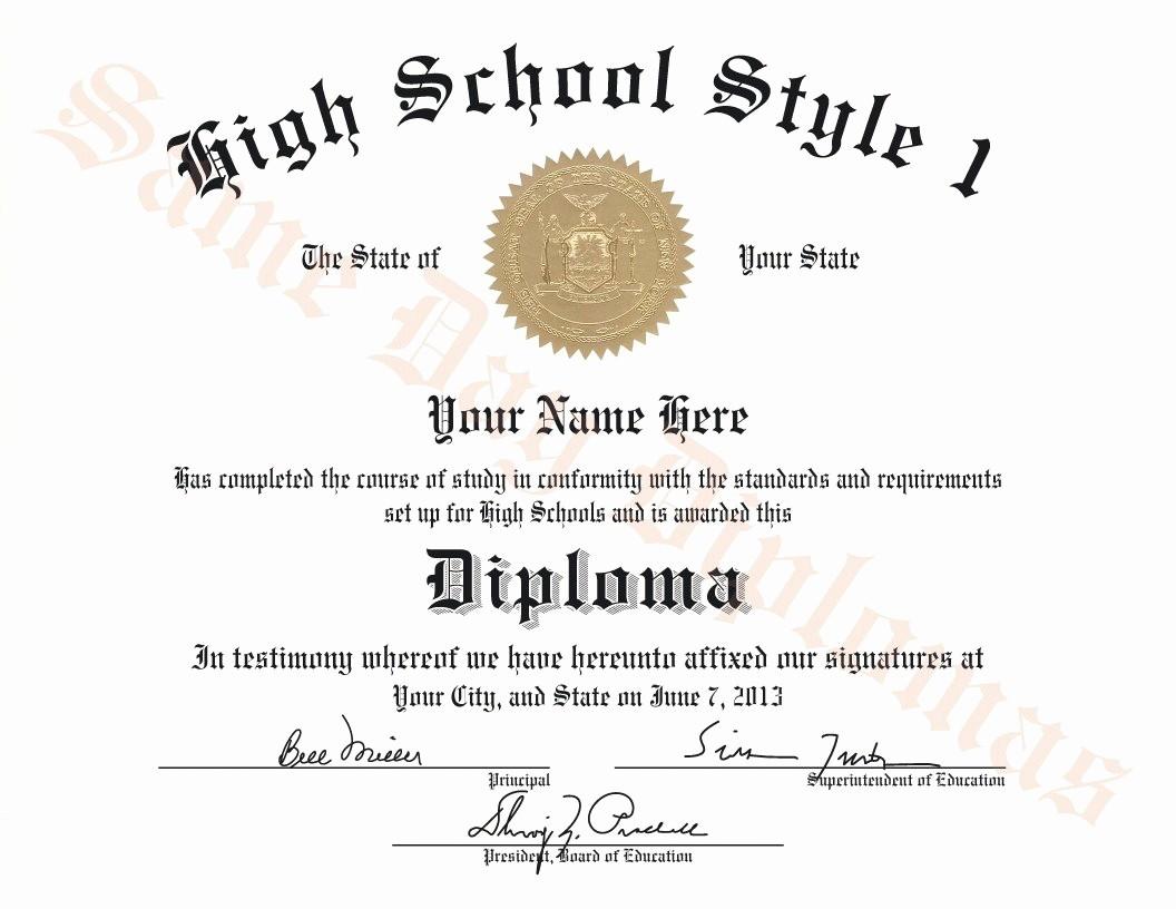 Sample Of High School Diploma Elegant Buy Replacement or Duplicate High School Diplomas – Dps