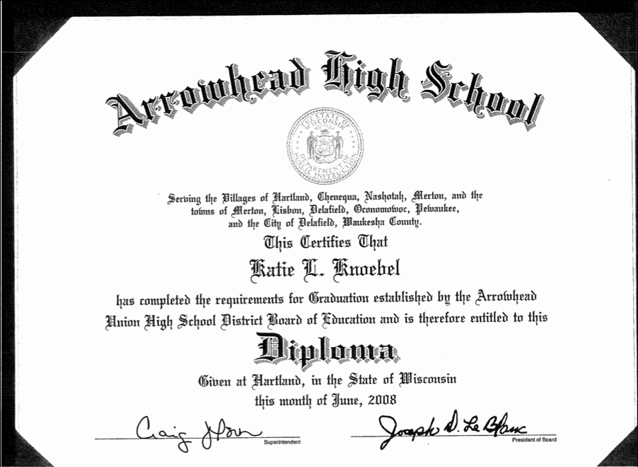 Sample Of High School Diploma Elegant High School Diploma