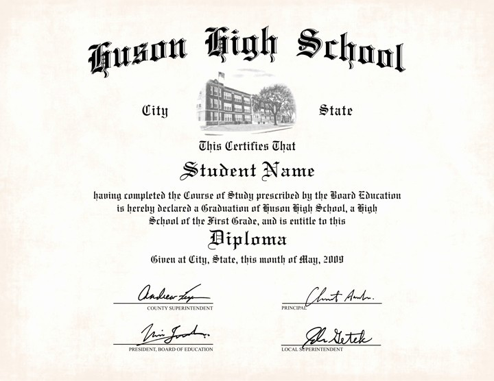 Sample Of High School Diploma Elegant Us High School Diploma Style 7