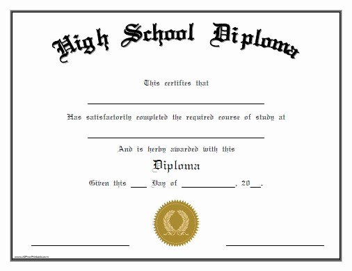 Sample Of High School Diploma Inspirational 25 High School Diploma Templates Free Download