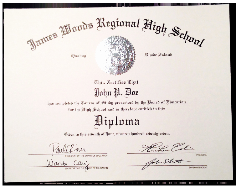 Sample Of High School Diploma Inspirational Fake High School Diplomas and Certificates