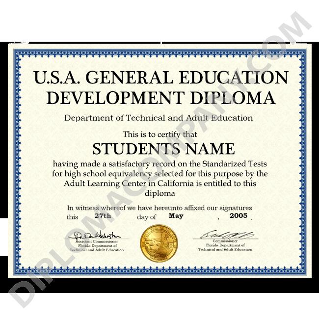 Sample Of High School Diploma Inspirational Fake Usa Ged Diploma