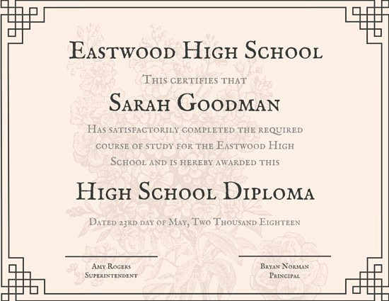 Sample Of High School Diploma Lovely Customize 325 High School Diploma Certificate Templates