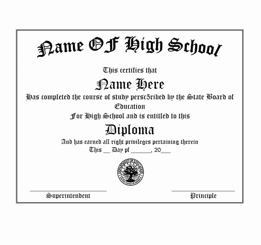Sample Of High School Diploma Lovely New Diploma Template