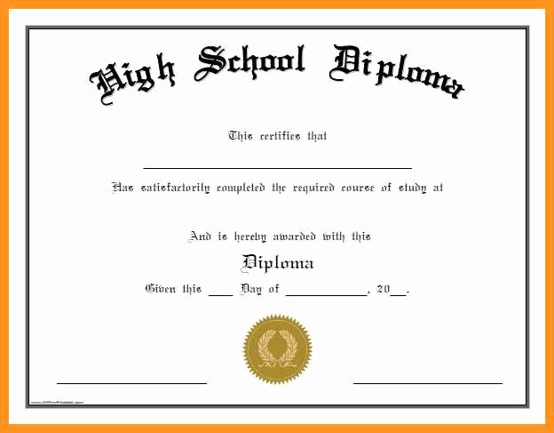 Sample Of High School Diploma Unique 4 5 Printable Graduation Certificates