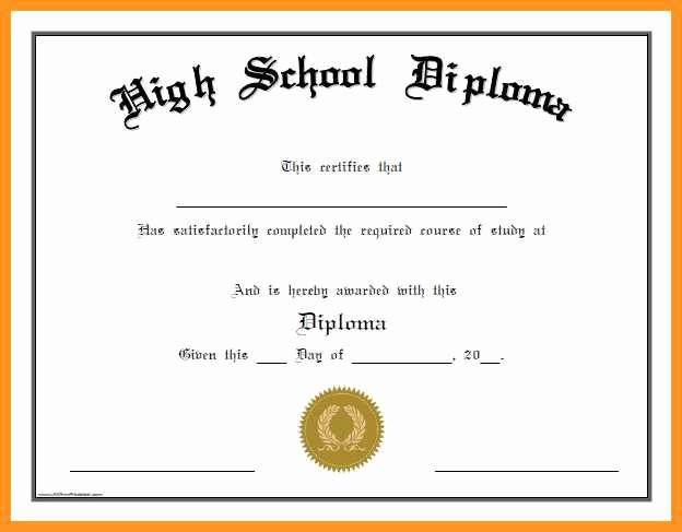Sample Of High School Diploma Unique 4 5 Printable Graduation Certificates