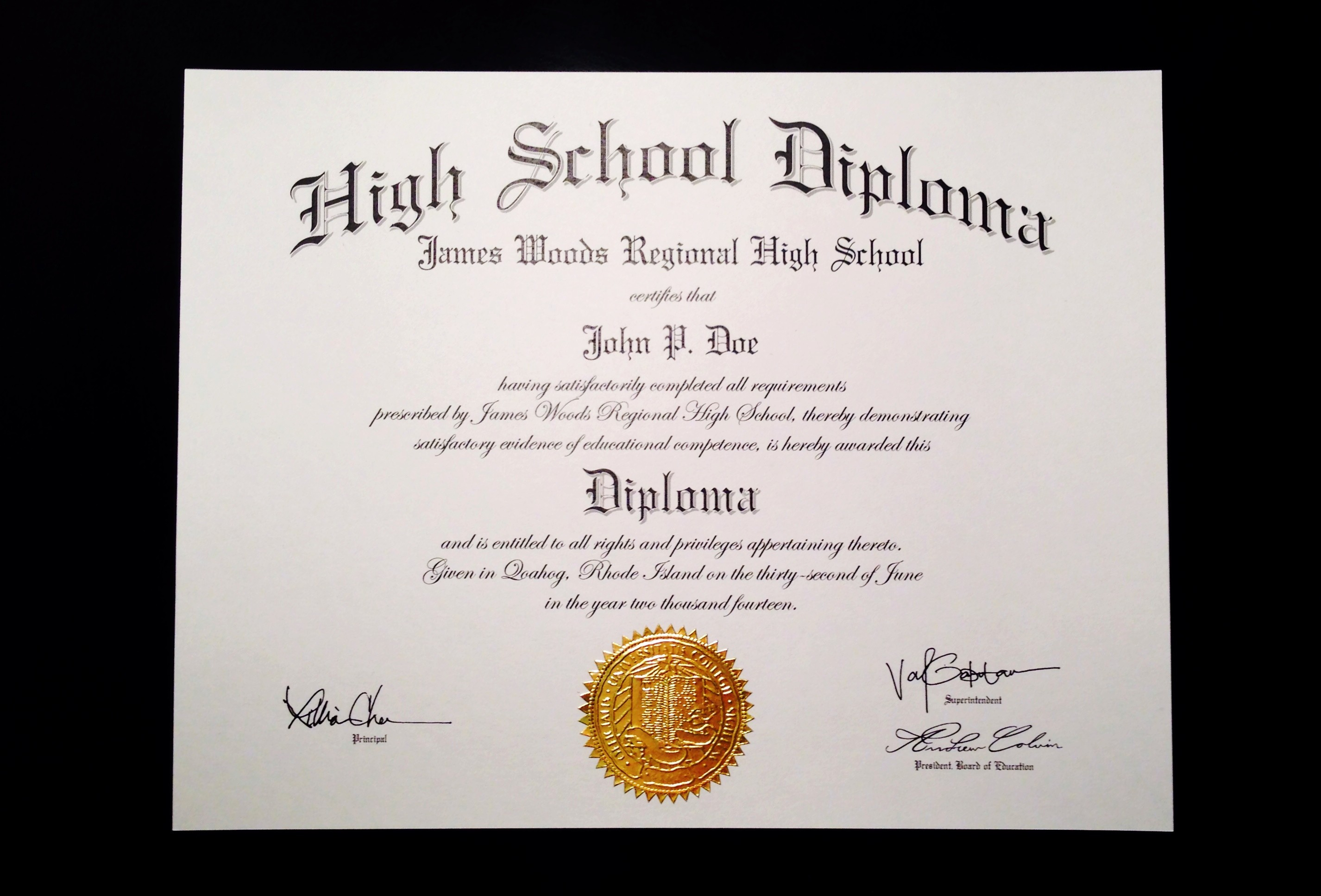 Sample Of High School Diploma Unique Buy A Fake High School Diploma Line