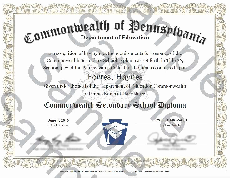 Sample Of High School Diploma Unique Sample Documents