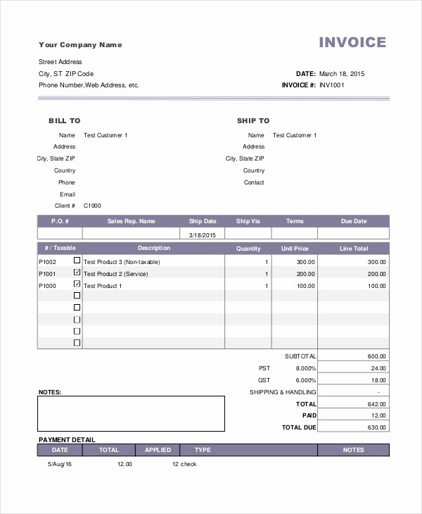 Sample Of Invoice for Payment Fresh 4 Payment Invoice Examples & Samples